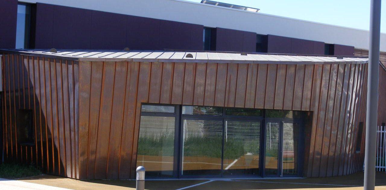 extension en cuivre d 39 une maison de retraite savigny sur. Black Bedroom Furniture Sets. Home Design Ideas