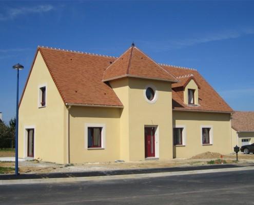 Maison avec tourelle 4 pans - Glot Couverture