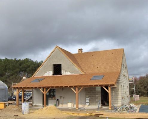 Maison individuelle - tuiles plates sablé - Glot Couverture