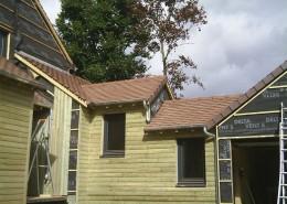 Maison ossature bois tuiles plates - Glot Couverture