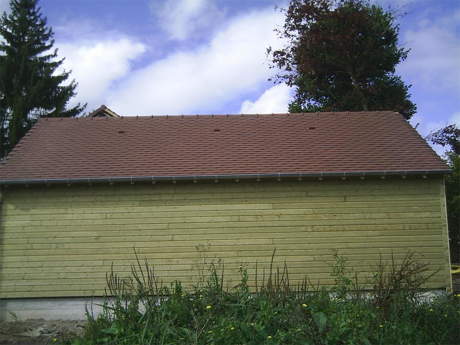 Maison ossature bois 78 glot couverture for Couverture tuiles plates