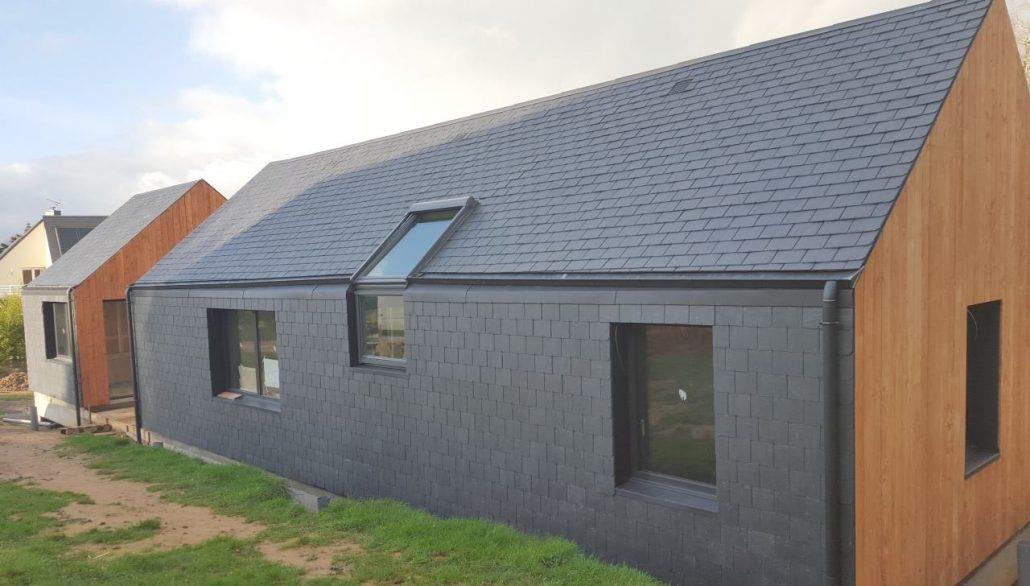Maison contemporaine en ardoises - Glot couverture